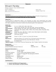 Sql Programmer Sample Resume Unique For 44 Years Experience Resume Templates Pinterest Resume
