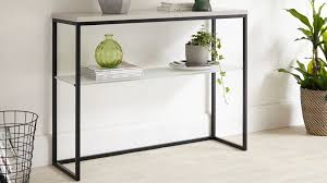Collection in Black Console Table with Contemporary Matt Grey And