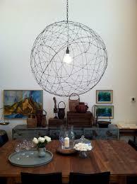 wire orb chandelier