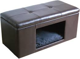 small dog furniture. Ottoman Bench Pet Hideaway Bed Small Dog Cat Hidden House Kennel Crate Furniture