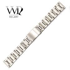 <b>Rolamy Watch Band</b> 17 18 19 <b>20mm</b> 316L Stainless Steel Silver ...