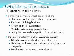 ing life insurance continued