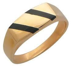 Купить Эстет <b>Кольцо с 2 ониксами</b> из красного золота ...