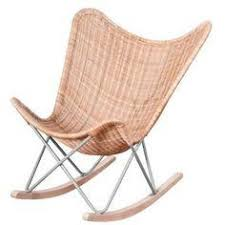 wicker rocking chair. Wicker Rocking Chair - Natural E