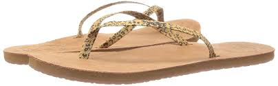 reef leather uptown luxe women s closed toe brown leopard reef flip flops leather low