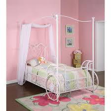 Carriage White Twin Canopy Bed - Princess | RC Willey Furniture Store