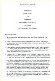 Witness Statement Affidavit Form Template Sample Example