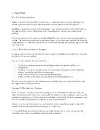 Resume Objectives For Resume Objective Examples Customer