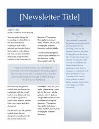 Microsoft Office Word Newsletter Templates Newsletter Executive Design 2 Pages Newsletter