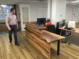 reception desks for offices custom counters trends including rustic desk inspirations