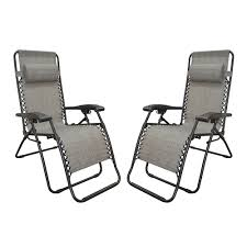 zero gravity recliner gray 2 pack caravan canopy 80009000122 recliners camping world