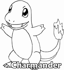 Small Picture Pokemon coloring page 004 charmander coloring pages