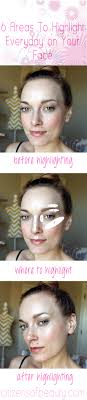 where to highlight 6 areas of your face to highlight everyday