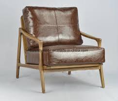 modern brown leather sofa wood