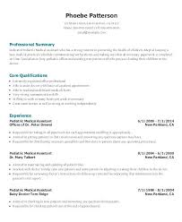medical assistant resume example medical resume sample pediatric medical  assistant resume template for free free medical