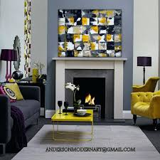yellow and gray wall art large modern wall art yellow and gray living room with accent