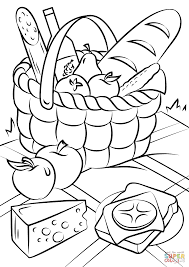 Small Picture Picnic Basket Food coloring page Free Printable Coloring Pages