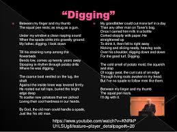digging by seamus heaney essay seamus heaney digging annotation  digging seamus heaney essays · digging poem essay example essay for you digging poem essay example image
