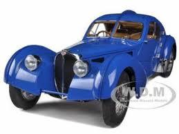 1938 type 57sc atlantic no. 1938 Bugatti 57sc Atlantic Blue With Metal Wire Spoke Wheels 1 18 Diecast Model Car Autoart