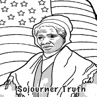 Sojourner Truth Coloring Pages Surfnetkids
