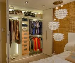 custom closet renovation with led lightin