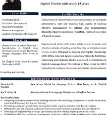 English Teacher Cv - Beni.algebra-Inc.co