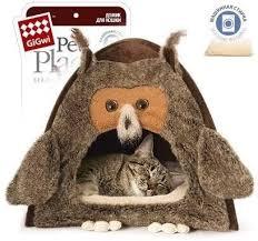 <b>Домик GiGwi</b> Сова для собак и <b>кошек</b> - купить в ЮниЗоо в Москве ...