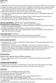 officer police resume landscape resume samples