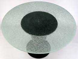 Round Smoked Glass Dining Table Black Lacquer Pedestal Dining Table Dining Room Gray Wall Design