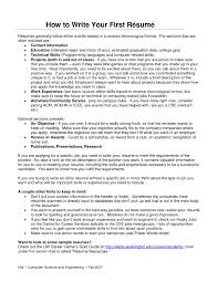 How To Make A Resume For First Job Template Discover A Good First