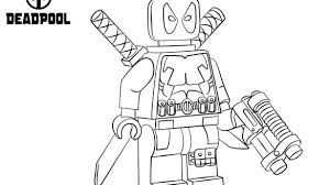 Lego Marvel Deadpool Coloring Pages Fancy Design Ideas Coloring