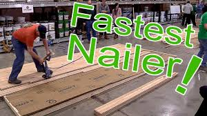 robert o connell wins fastest nailer at city floor supply hardwood contractor peion