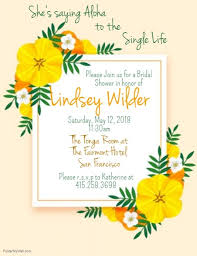 Bridal Shower Template Fascinating Aloha Bridal Shower Template PosterMyWall