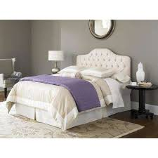 Modern Bed Headboards In Ivory Beds Bedroom Furniture The Home Depot Ideas  16