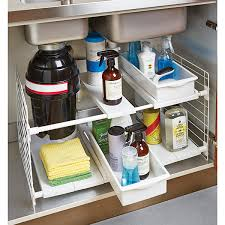 smart underneath bathroom sink organizer with expandable undersink