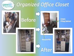 organize office closet. before and after office closet organized organize o