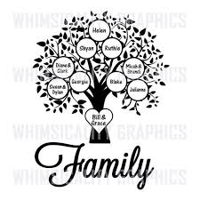 Family Tree Printable Template Family Tree Blank Template With Svg Dxf Png Commercial Personal