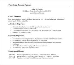 Example Of Functional Resumes 10 Functional Resume Templates Pdf Doc Free Premium