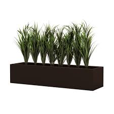 lush grass in low inh modern planter outdoor rated