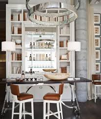 bookshelf home bars with white shelf and stunning chic mini bar design