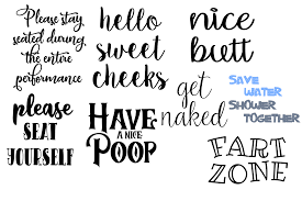 Wash brush floss flush svg cut file by the smudge factory™ watch us draw on instagram! Bathroom Signs Bundle Graphic By Auntie Inappropriate Designs Creative Fabrica