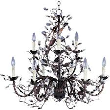 elegante oil rubbed bronze nine light chandelier