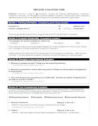 Employee Performance Assessment Examples Employee Performance Review Template Sample Get Sniffer