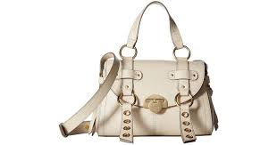 see by chloé allen leather satchel cement beige satchel handbags in natural lyst