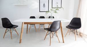 White And Oak Extending Dining Table And Eames Style Chairs  Youtube  Intended For Eames Chair