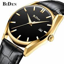 biden fashion men s watches top luxury brand quartz waterproof clock men casual sports leather wristband watch