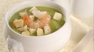 Суп из брокколи с креветками и крутонами пошаговый рецепт с фото Суп из брокколи с креветками и крутонами