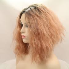 Lace Hair Style 2017 new fashion pastel pink ombre lace wigs 14inch natural wavy 7936 by wearticles.com