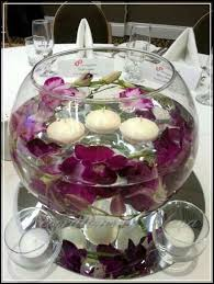 glass fish bowl flower arrangements 2