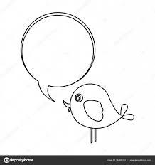 シルエットかわいい漫画鳥動物アイコン ダイアログ バブル アイコン